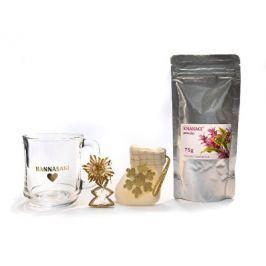 Vánoční balíček čajová směs EMANACE powder 75 g a hrníček Hannasaki