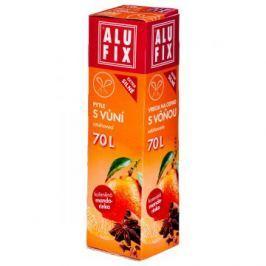 Alufix pytle na odpad zatahovací s vůní mandarinky, 70 l 8 ks, 71 x 64 cm
