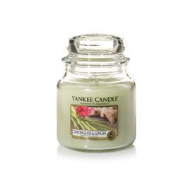 Yankee Candle Classic střední vonná svíčka  Citrónová tráva a zázvor, 411 g