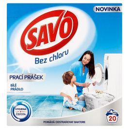 SAVO prací prášek bílé prádlo 20 praní 1,4 kg