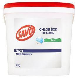 SAVO do bazénu chlor šoková dezinfekce 5 kg