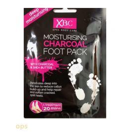 XPel Charcoal Foot Packhydratační ponožky s aktivním uhlím 1 pár