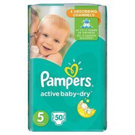 Pampers Active Baby Dry 5 jednorázové pleny 50 ks