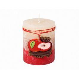 Dekorativní svíčka Skořice a jablko, 9 cm