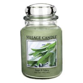 Village Candle Vonná svíčka ve skle, Svěží šalvěj - Sage Celery, 16oz, 397 g