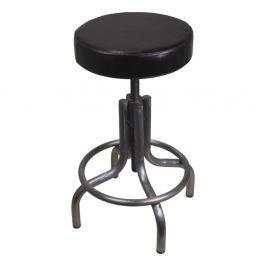 Šedo-černá stolička z kovu s koženým potahem HSM collection Revolving