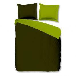 Zelené bavlněné povlečení Muller Textiels Uni Double, 240x200cm