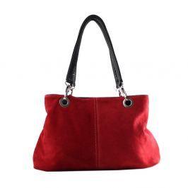 Červená kožená kabelka Chicca Borse Westo 3242edb466