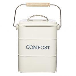 Krémový domácí kompostér Kitchen Craft Living Nostalgia, 3 l