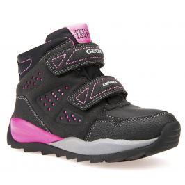 Geox Dívčí zimní boty Orizont - černo-růžové 8a516963af