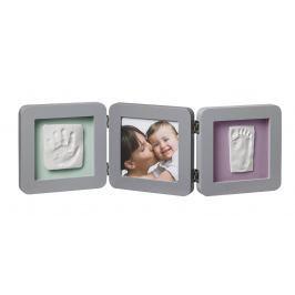 Baby Art Rámeček Double Print Frame - šedá