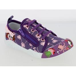V+J Dívčí tenisky s obrázky - fialové