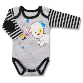 Lafel Chlapecké body Puppy - šedo-modré