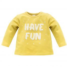 Pinokio Chlapecké tričko Funny dog - žluté