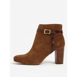 Cashback Světle hnědé dámské kožené kotníkové boty na podpatku GANT Alma 33c5f4a38b