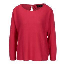 20371c63157 Cashback Růžový lehký svetr s mašlí na zádech ONLY Sophina