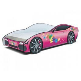 Cars - Dětská postel (růžová)