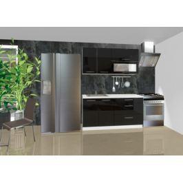 Emilia - Kuchyňský blok A, 1,6 m (černá lesk)