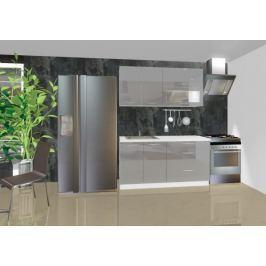 Emilia - Kuchyňský blok A, 1,6 m (šedá lesk)