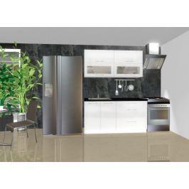 Emilia - Kuchyňský blok C, 1,6 m (bílá lesk)