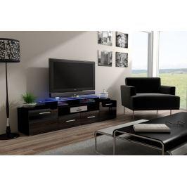 Evora - TV stolek (černá/černá lesk)