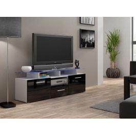 Evora mini - TV stolek (bílá/černá lesk)