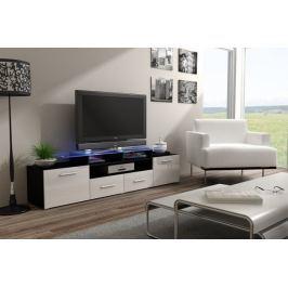 Evora - TV stolek (černá/bílá lesk)