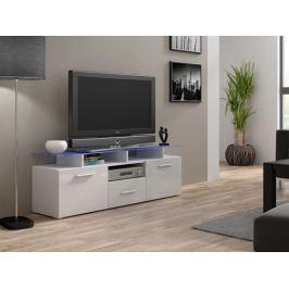Evora mini - TV stolek (bílá/bílá lesk)