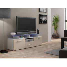 Evora mini - TV stolek (bílá/krémová lesk)