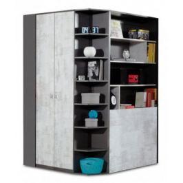 Tablo - šatní skříň, 2x dveře, 135 cm (grafit/enigma)