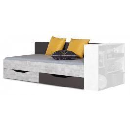 Tablo - postel 90x200 cm, rošt (grafit/enigma)