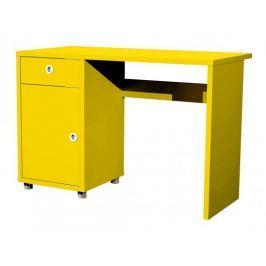 Box - stůl, 1x dveře, 1x šuplík (žlutá)