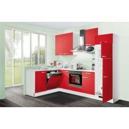 Slowfox - Kuchyň rohová, 280x175cm (červená/bílá)