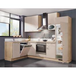 Slowfox - Kuchyň rohová, 280x175cm (krémová/horský dub)