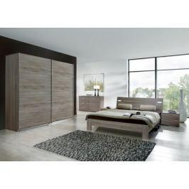 Vicenza - Komplet velký 2, postel 180 cm (dub montana)