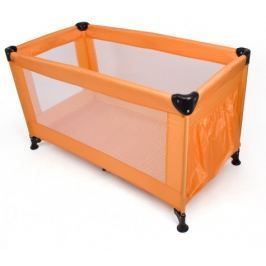Calme - Cestovní postýlka, 120x60x73 cm, skládací (oranžová)