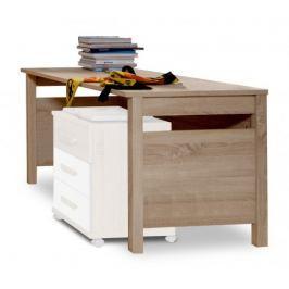 Game - Pracovní stůl (bílá, dub)