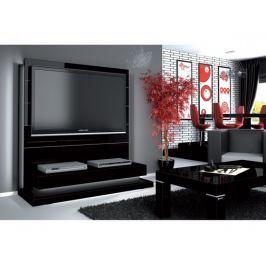 Panorama lux - TV stolek s držákem (černá vysoký lesk)