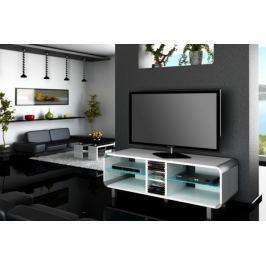 Primus - TV stolek (bílá vysoký lesk)