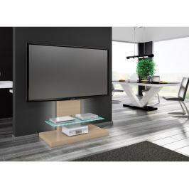 Marino max - TV stolek (cappucino vysoký lesk/sklo mléčné)