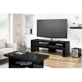 Davos 2 - TV stolek (černá vysoký lesk)