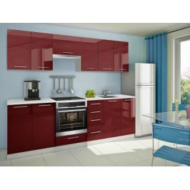 Mondeo - Kuchyňský blok G, 260cm (červená)