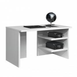 Work - Stůl, 2x police, 120x74x70 (bílá)
