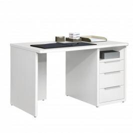Work - Stůl, 3x zásuvka, 120x74x70 (bílá)