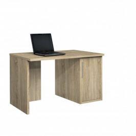 Work - Stůl, skříňka, 1x police, 120x74x70 (dub)
