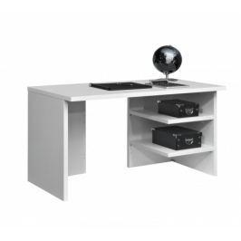 Work - Stůl, 2x police, 140x74x70 (bílá)