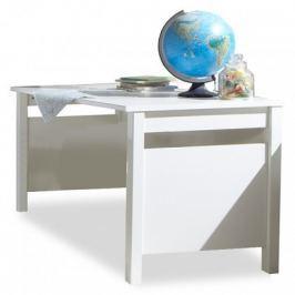 Bibi - Pracovní stůl (alpská bílá, oranžová)