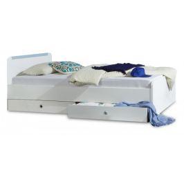 Bibi - Postel 90x200cm, s úložným prostorem (alpská bílá, modrá)
