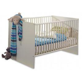 Bibi - Dětská postýlka (alpská bílá, modrá)