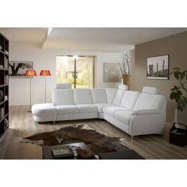 Toulouse S - roh levý, rozkládací, úložný prostor, 1x USB (eko kůže)